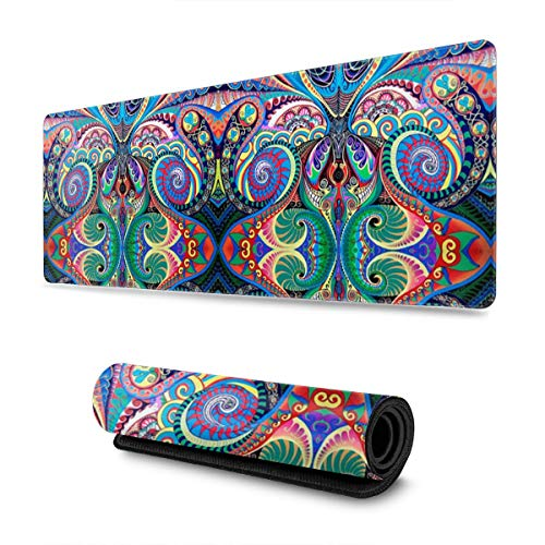 Psychedelic Trippy Mandala 30 X 80 CM Gaming Mouse Mat Suitable for Games, Office Working