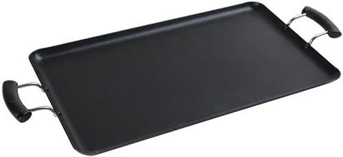 "wholesale Comal discount Cuadrado Rectangular Double Griddle Aluminum 19""x11"" Non-stick coating 2021 Mexican Style online sale"