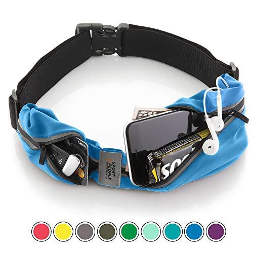 Cintura da corsa - iPhone X 6 7 8 Plus sacchetto per corridori. Best fitness attrezzo per allenamento mani libere. Riflettente marsupio porta telefono. Corsa accessori per uomini, donne, bambini (Blu)