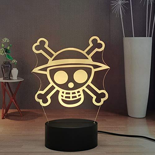 Luffy Zoro - Lámpara LED táctil a distancia con diseño de anime One Piece