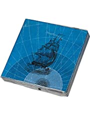 James Cook Papierservietten Motiv The Voyages: 20 Papierservietten 33 x 33 cm