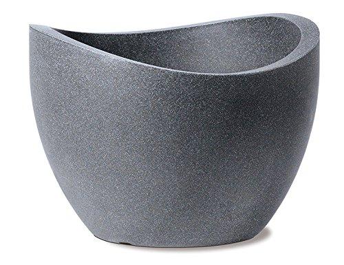 Scheurich Wave Globe, Pflanzgefäß aus Kunststoff, Schwarz-Granit, 30 cm Durchmesser, 29,7 cm hoch, 19 l Vol.