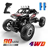 DEERC DE45 RC Cars Remote Control Car Off Road Monster Truck,1:16 Metal Shell 4WD Dual Motors LED...