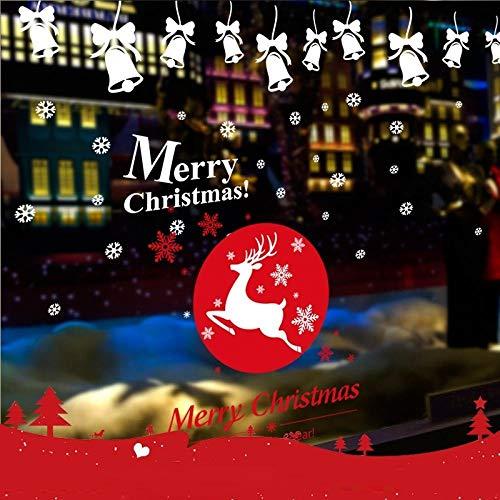 Vinilos Decorativos Y Murales - Adhesivos decorativos navideños para escaparates, escaparates, adhesivos para centro comercial, adhesivos para decoración de puertas creativas