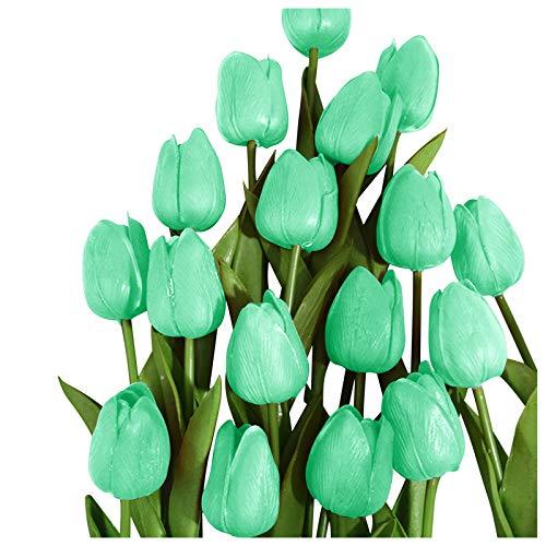 SmallYin 1/10/28 Flores de TulipáN/Violeta/Calla Lily Falsas, Flores Artificiales de LáTex de Tacto Real de la PU de la Planta Falsa para la DecoracióN del Hogar del JardíN,Arreglos Florales
