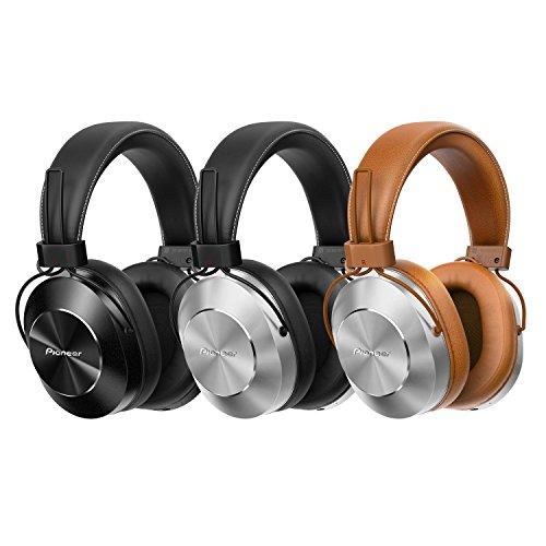 Pioneer SE-MS7BT-T - Auriculares de Tipo Diadema (Bluetooth, Hires, Power Bass, NFC), Color marrón