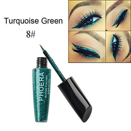FEITONG Eyeliner, Make-up Metallische Glänzende Augen Lidschatten wasserdichte Glitter Flüssige...