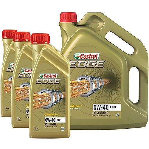 3x 1 L + 1x 5 L = 8 Liter Castrol Edge FST 0W-40 A3/B4 Motor-Öl Motoren-Öl; Spezifikationen/Freigaben: SAE 0W-40; ACEA A3/B3, A3/B4; API SN/CF; VW 502 00/ 505 00; BMW Longlife-01; MB-Freigabe 229.3/ 229.5; Porsche A40; Meets Ford WSS -M2C937-A