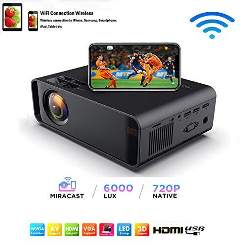 WiFi-Projektor-Mini Projektor Tragbar 7000 Lumen Full HD 1080P Wireless-Video Projektor Für iPhone/Samsung/Hauwei-Smartphone-Lautsprecher Stereo-Multiverbindung HDMI/USB/VGA/ AV/TF/SD Karte