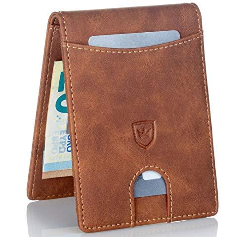 Kronenschein® Premium Herren Portemonnaie Geldbeutel mit Geldklammer Portmonee Männer Geldbörse RFID Schutz Slim-Wallet Brieftasche Kreditkartenetui Kartenetui