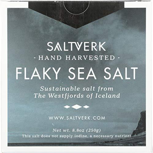 Flaky Sea Salt - Meersalzflocken | Speisesalz | Meersalz grob | 250 g | mineralhaltiges, isländisches Meersalz