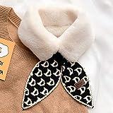 FEF cálido Cuello de Piel de Conejo de imitación Cuello Invierno Bufanda Gruesa pañuelo para el Cuello de Las Mujeres de Pata de Gallo Bufandas de Punto de diseño para Damas