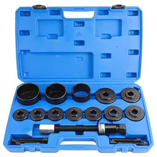 FreeTec 19TLG. Radlagerwerkzeug Radnabe Abzieher Ausdrücker Radlager Werkzeug Set Montage Demontage für VW Audi Opel FIAT BMW Ford
