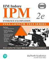 IIM Indore IPM Entrance Examination-Fulllength Test series | other BBA Entrance Exams | 11 full length mock test & OMR sheets for real-time experience [Paperback] DueNorth Acedemics