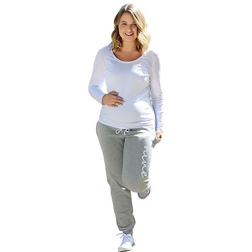 9bcee8d31d85c Elizabeth Brown Maternity Maternity Joggers/Jogging Trouser Bottoms - Over  The Bump - Dove Grey
