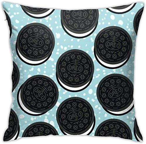 qidong Oreo'S - Funda de almohada cuadrada con estampado en 3D para decoración del hogar, cuadrada, 45,7 x 45,7 cm, para sala de estar, coche, dormitorio