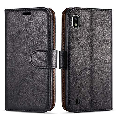Hülle Collection Hochwertige Leder hülle für Samsung Galaxy A10 Hülle (6,2