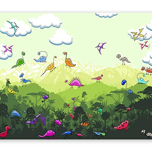 murando Fototapete Dinosaurier 350x256 cm Vlies Tapeten Wandtapete XXL Moderne Wanddeko Design Wand Dekoration Wohnzimmer Schlafzimmer Büro Flur Tropisch für Kinder e-C-0055-a-a
