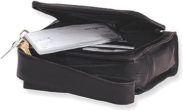 حقيبة كتف جلدية سوداء للنساء متعدد الالوان