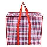 yywl Bolsa de algodón grande para ropa de acolchado con gran capacidad, bolsillos grandes portátiles, bolsas de tela tejida para equipaje móvil, bolsas de viaje de lona