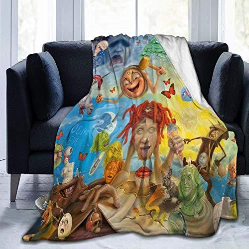 Trippie Redd Flanell Fleece Decke Ultraweiche warme gemütliche Plüsch Bettdecke Leichte Sofadecke im Winter (DREI Größen 50 'x 40' 60 'x 50' 80 'x 60' Zoll)