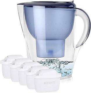 BRITA Marella XL Filtre à eau bleu 3,5 l avec Maxtra+ Lot de 5 cartouches