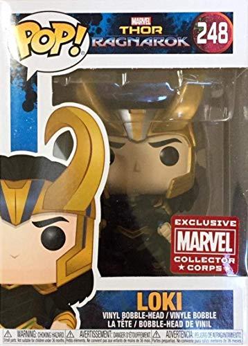 Funko Pop! Marvel: Thor Ragnarok - Loki con Casco # 248 Figura de Vinilo del Cuerpo de coleccionista