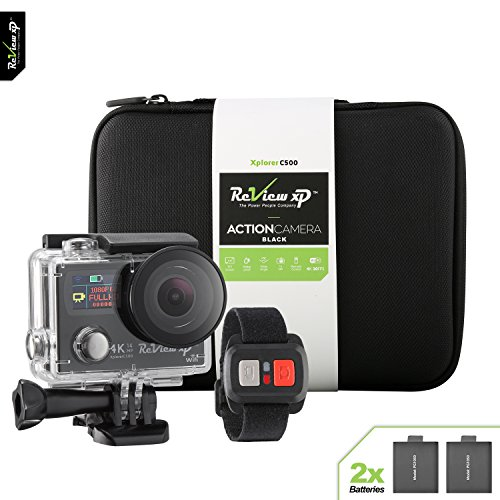 Review XP C500 4K Action Camera 14MP HD Wi-Fi Waterproof 30fps Sports Video Underwater Camcorder 170° Angle Dual Screen 2 Batteries Accessories Kit Carrying Case Remote Control - Black