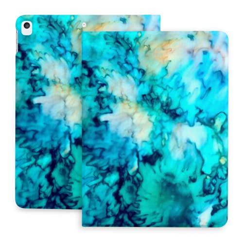 10.2 Estuche para iPad 8.a generación 2020 / iPad 7.a generación 2019, tecnología de teñido Anudado de Fondo Abstracto Colorido con portalápices [Dormir/Despertar] Fundas Protectoras con Soporte ma