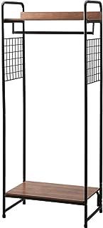 アイリスオーヤマ ハンガーラック ブラック 64×38.5×154.5cm 2WAYタイプ プレミアム メッシュパネル付き PI-B4 パイプハンガー