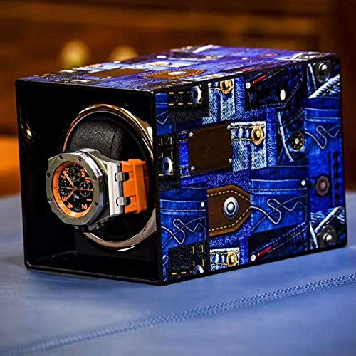 Caja Giratoria para Relojes Caja de enrollador de Reloj de Pulsera Solo automático Caja de Almacenamiento de Reloj (Color : E)
