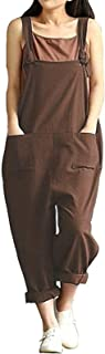 Women's Casual Plus Size Overalls Baggy Wide Leg Loose Rompers Jumpsuit
