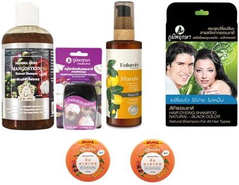 Extra Set Mama Indefinitely Mangosteen Peel Herbal Aloe Shampoo with Ve Daily bargain sale 270ml