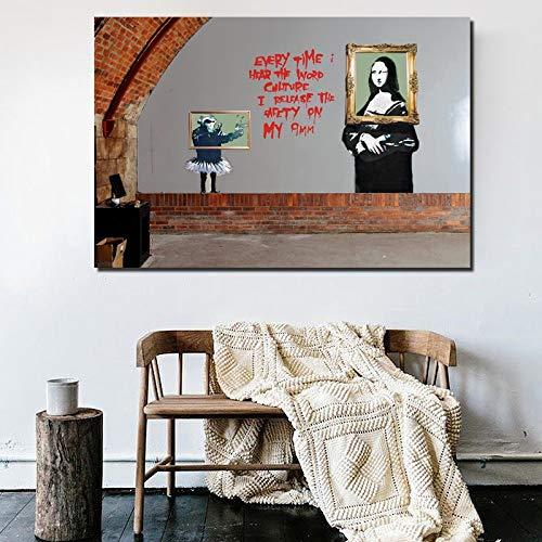 KWzEQ Retro-Plakatöl des Künstler-Straßenkunst-Retro auf Leinwanddruckwohnheimdekoration Moderne Bilder,Rahmenlose Malerei,30x45cm