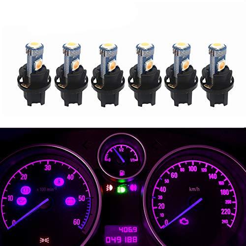 WLJH T5 17 37 74 2721 Pink Dashboard Gauge Instrument Cluster Panel Dash LED Light Lamp with Twist Lock Socket,Pack of 6