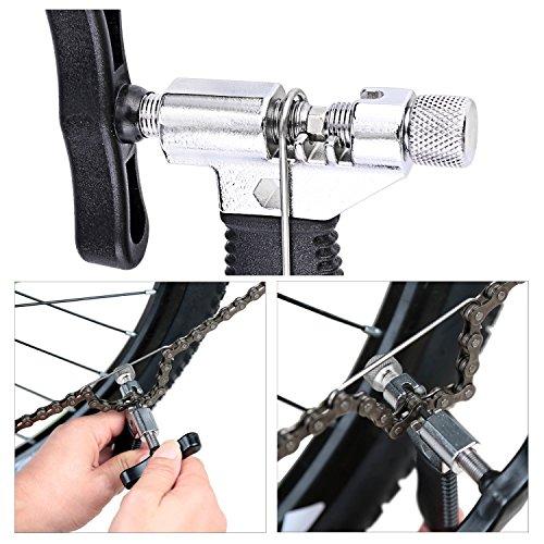 Oumers Fahrrad Link Zange+Fahrrad Ketten Werkzeug+Ketten Prüfer Fahrrad Reparatur Werkzeug Set - 3