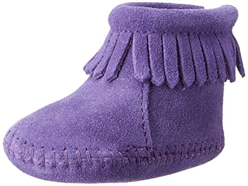 Minnetonka Velcro Back Flap Bootie, Baby Mädchen Krabbelschuhe, Violett (Purple / PRP), 18 EU thumbnail