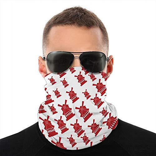 ncnhdnh weiche Mikrofaser Kopfbedeckung Schal Halstuch Mulin Rouge Frankreich Schutz Schild