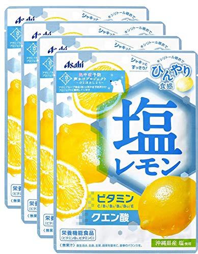アサヒグループ食品 塩レモンキャンディ 81g×4袋