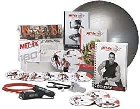 Met-Rx? 180 Workout Fitness Exercise Ball Program Complete Kit - Transforming Every Body by MET-Rx