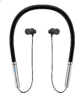 Bluetooth イヤホン-ランニング-スポーツ-ワイヤレス-HIFI重低音 CSR+CVC8.0ノイズキャンセリング搭載 マグネット搭載 マイク内蔵 10時間連続再生 ネックバンド型 片耳 両耳 2台接続可能 iPhone/iPad/Android適用 ブラック
