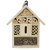Sunnygalde Hand-Made Natural Wooden Insect House Garden Bug Hotel Perfect Home for Ladybugs/Mason Bees/Butterflies Live (8.5' x 5.3' x 2.2')