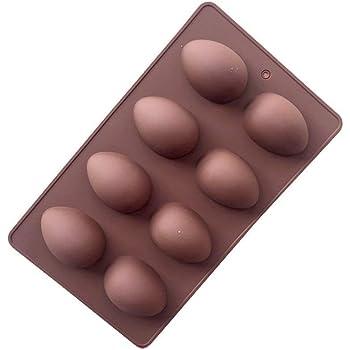 JUN Easter 8-Cavity Egg Shape Non Stick Silicone Mold for Cake mold,chocolate mold,Pudding mold,Silicone mold,Ice tray mold,baking mold (1)