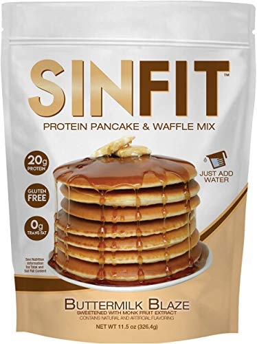SinFit (Sinister Labs) Protein Pancake and Waffle Mix, Buttermilk Blaze, 20g Whey Isolate, Whole Grain, Oat Flour, No Added Sugar (11.5 oz Bag - 1 Pack - Packaging May Vary)