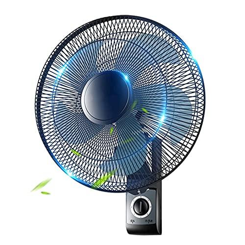 DFFH Ventilador Silencioso Oscilante Montado En La Pared, Ventilador De Pared con Control Remoto, con Temporizador para El Dormitorio Hogar Restaurante,Negro