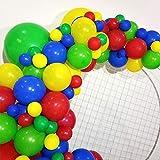 60 piezas de globos de fiesta, colorido kit de decoración de guirnaldas de globos, globos de látex para boda, feliz cumpleaños, aniversario