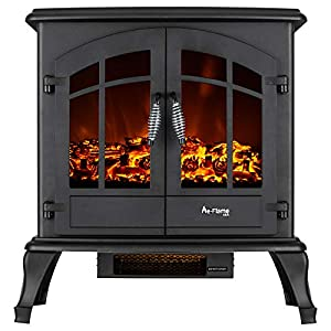 Jasper Free Standing Electric Fireplace Stove - 25 Inch