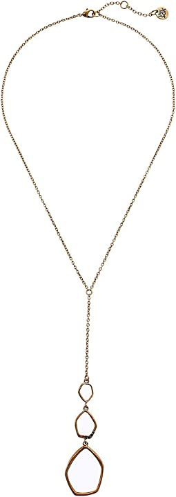 Open Pave Y-Neck Necklace 18""