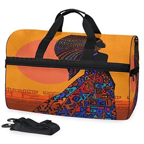 Oarencol - Bolsa de Viaje para Mujer Africana con Vestido Brillante, Estilo...