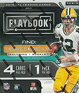 2019 Panini Playbook NFL Football HOBBY box (4 cards)